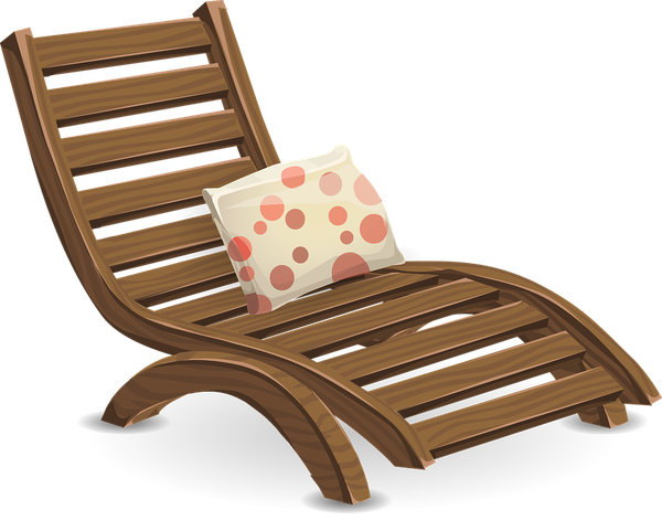 drewniane leżaki ogrodowe